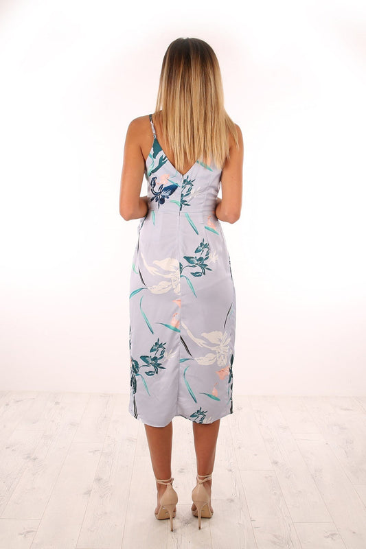 Watery Blooms Dress Blue