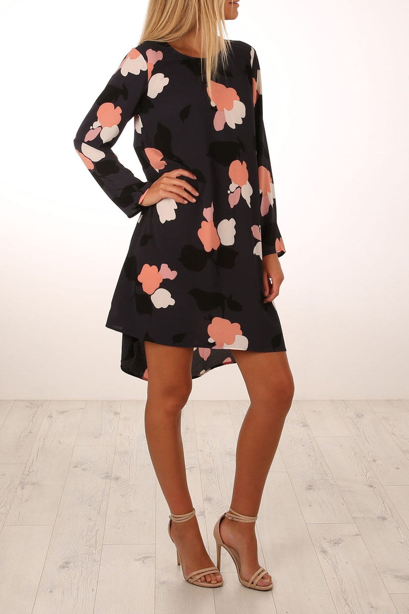 Floral Ways Dress Navy Jean Jail - Jean Jail
