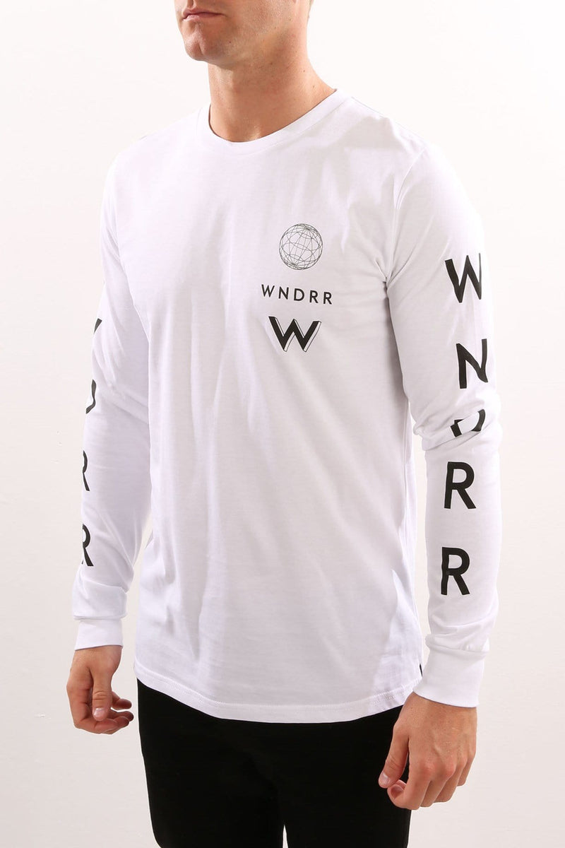 Feedback Long Sleeve Tee White WNDRR - Jean Jail