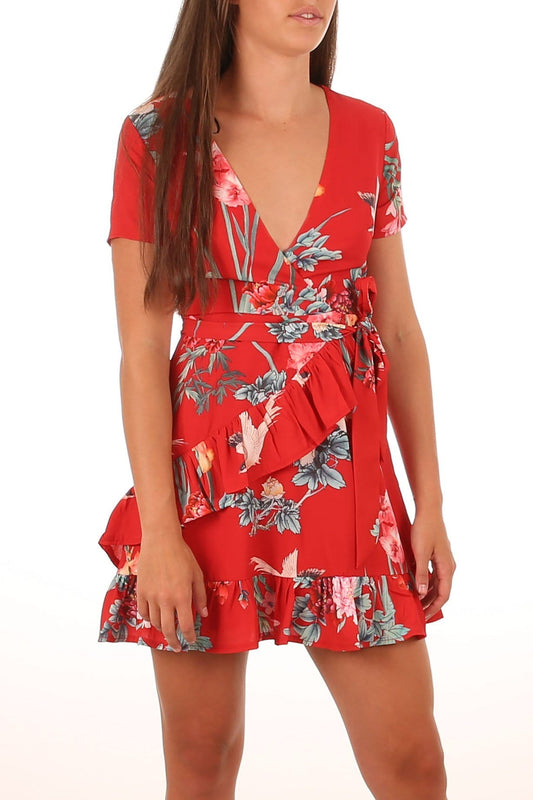 Bleeding Love Dress Red