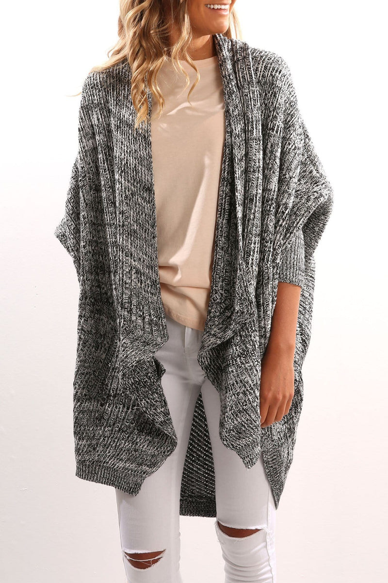 Samantha Knit Cardigan Salt Pepper Imonni - Jean Jail