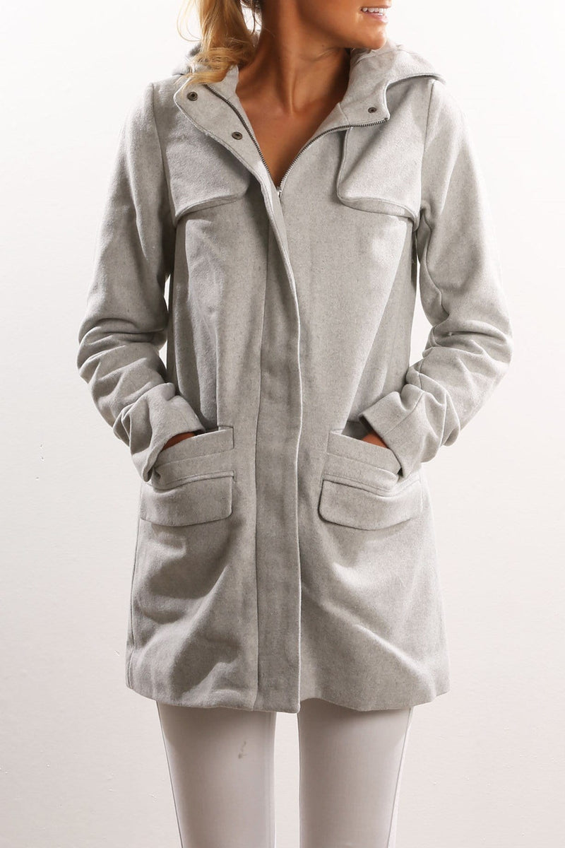 Paddington Coat Grey All About Eve - Jean Jail