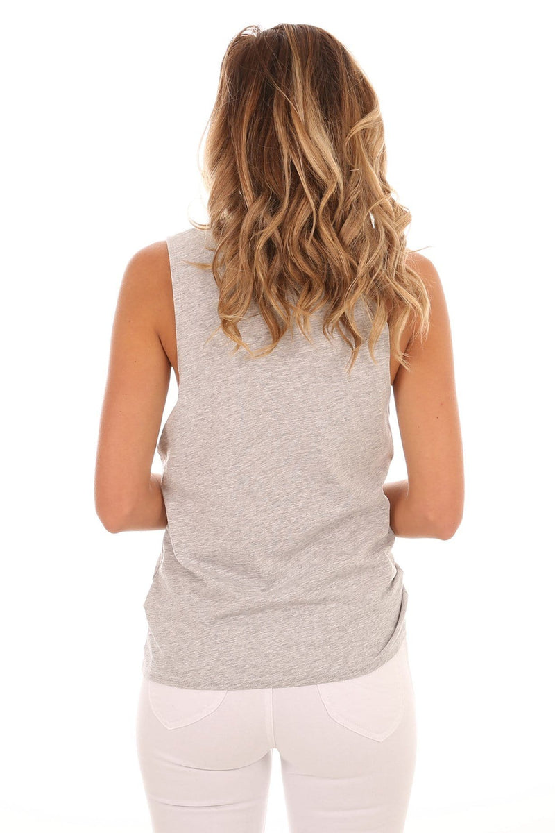 Ever Rad Muscle Heather Grey Volcom - Jean Jail