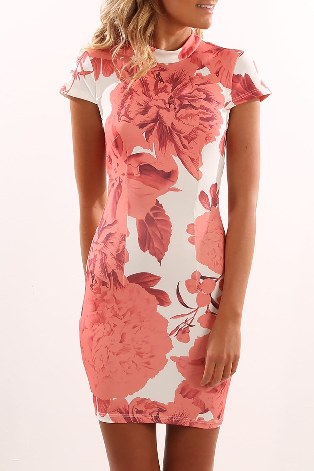 Fiery Flower Dress White