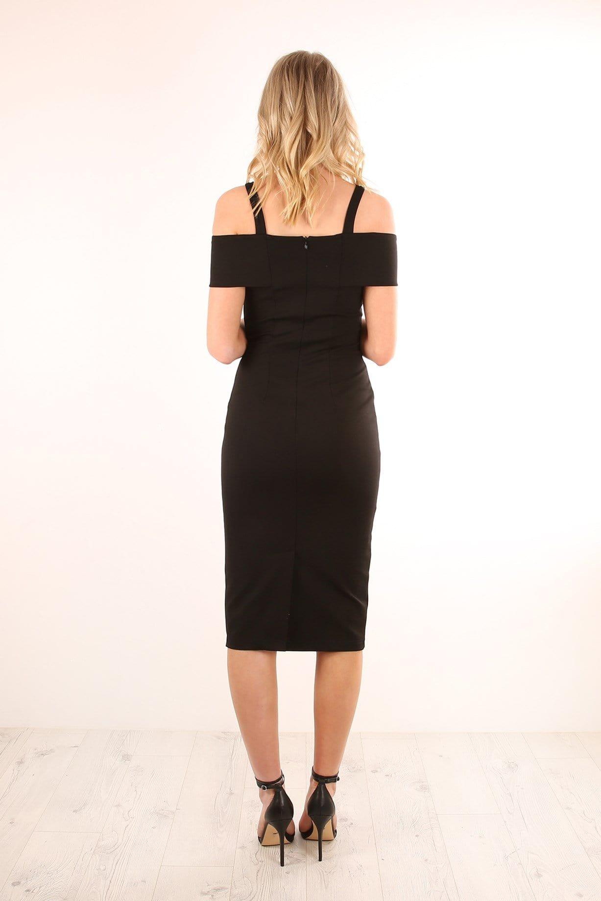 Angelina Midi Dress Black