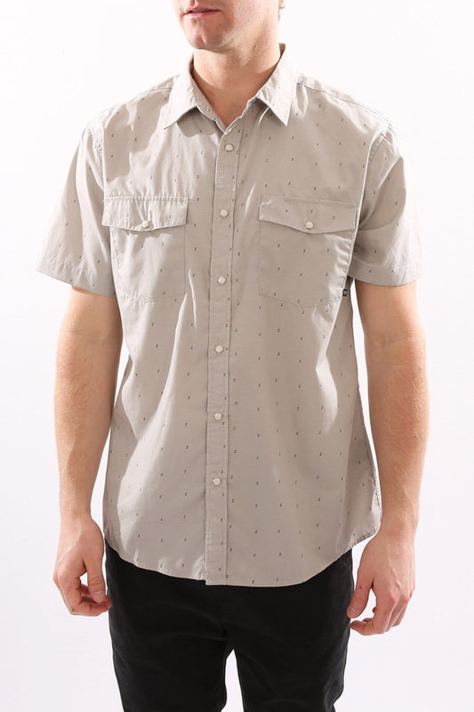 Wayne Woven Shirt Light Grey