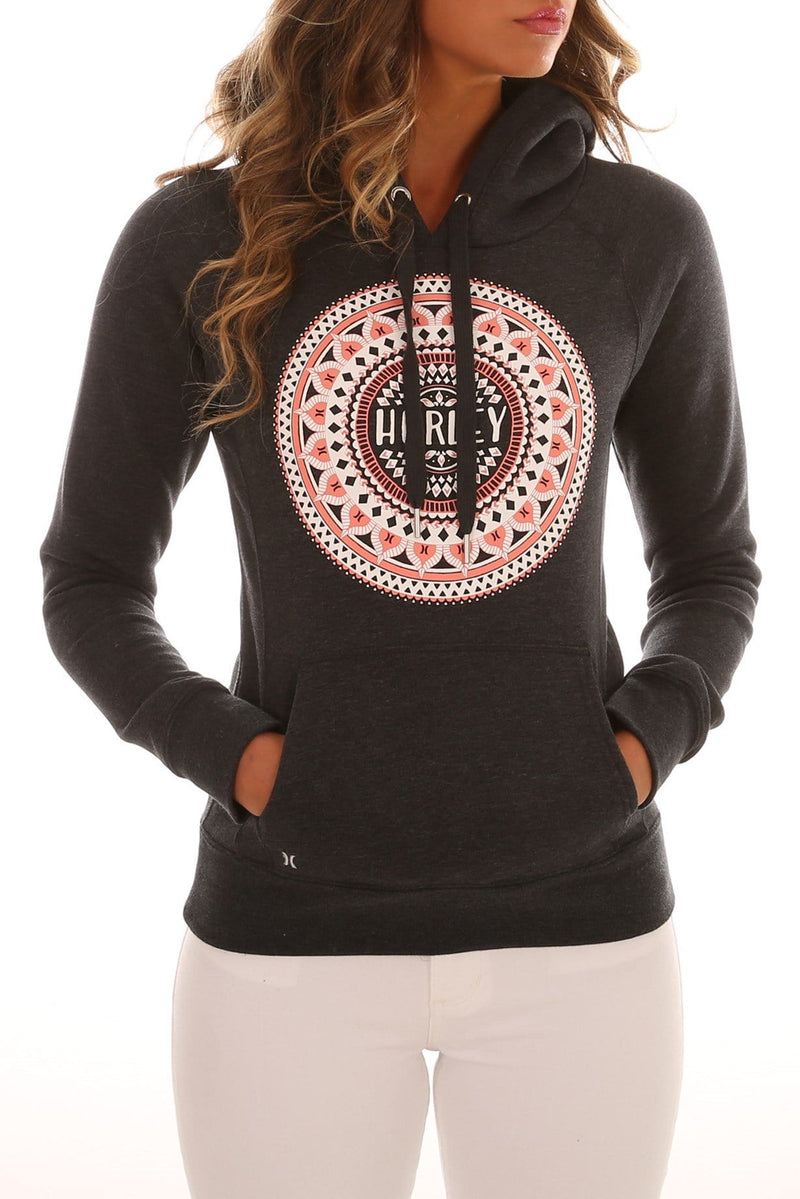 Mandala Pop Fleece Dark Heather Grey Hurley - Jean Jail