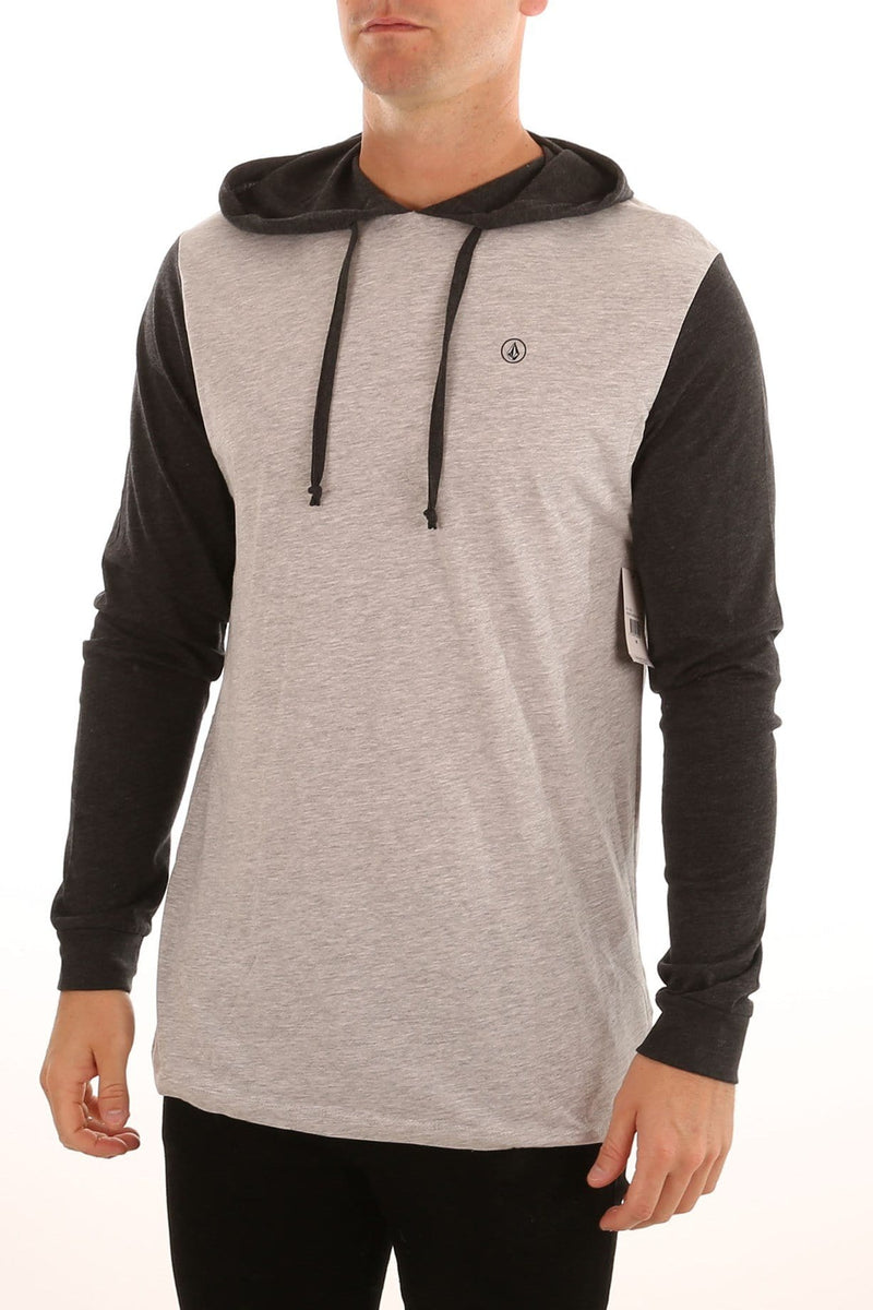 Contrast Hooded Long Sleeve Tee Grey Marle Volcom - Jean Jail
