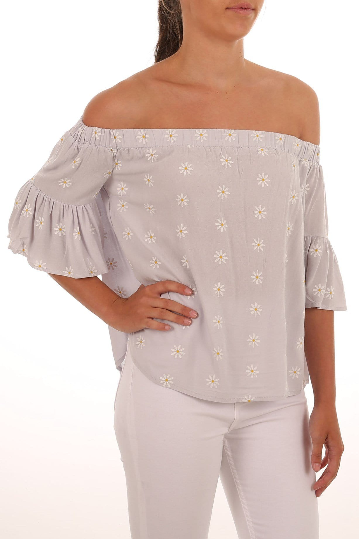 Daisy Chain Off Shoulder Top Daisy Chain Print