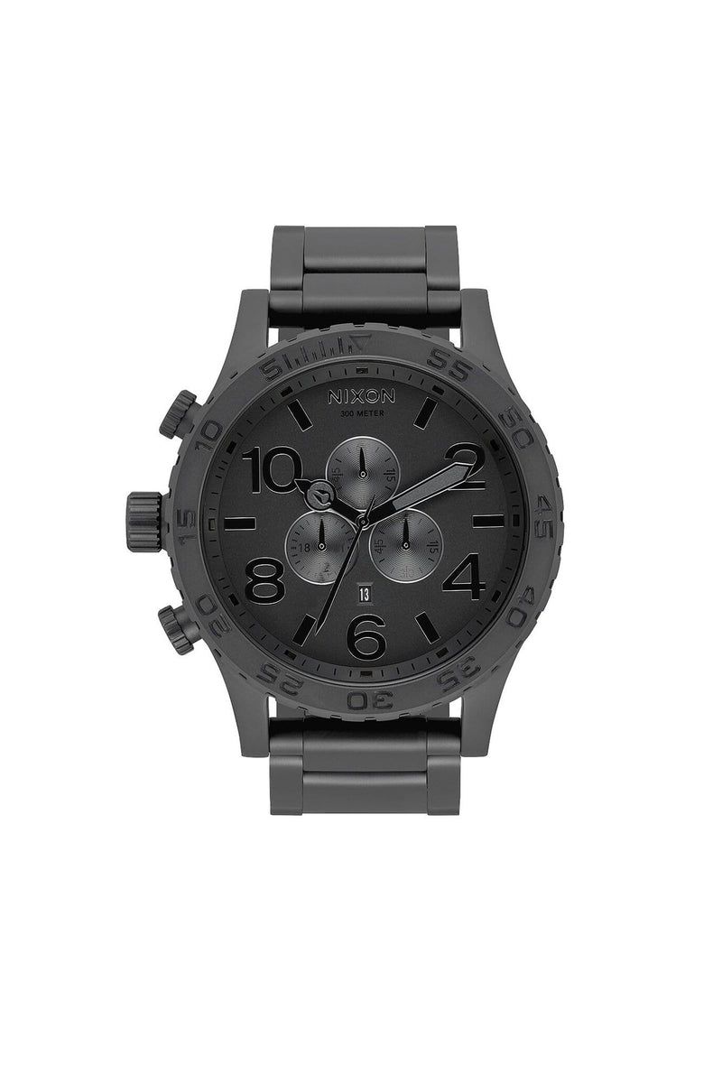 51-30 Chrono All Matte Black // Black Nixon - Jean Jail