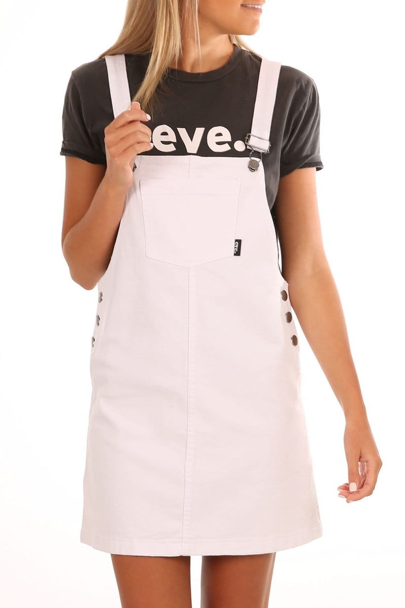 Mami Pinafore White All About Eve - Jean Jail