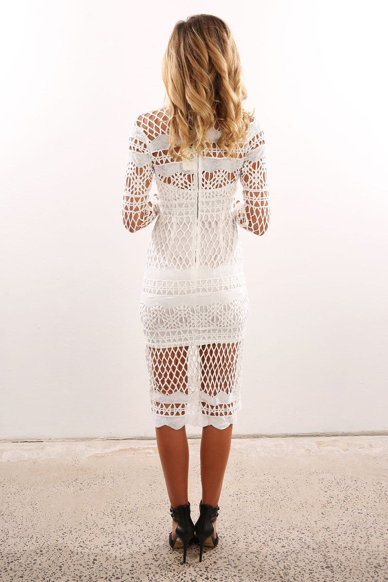 Leisel Dress White Jean Jail - Jean Jail