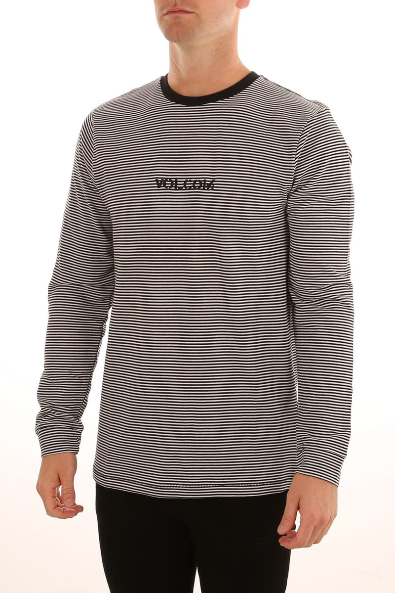 Borough Long Sleeve Crew Tee White Volcom - Jean Jail