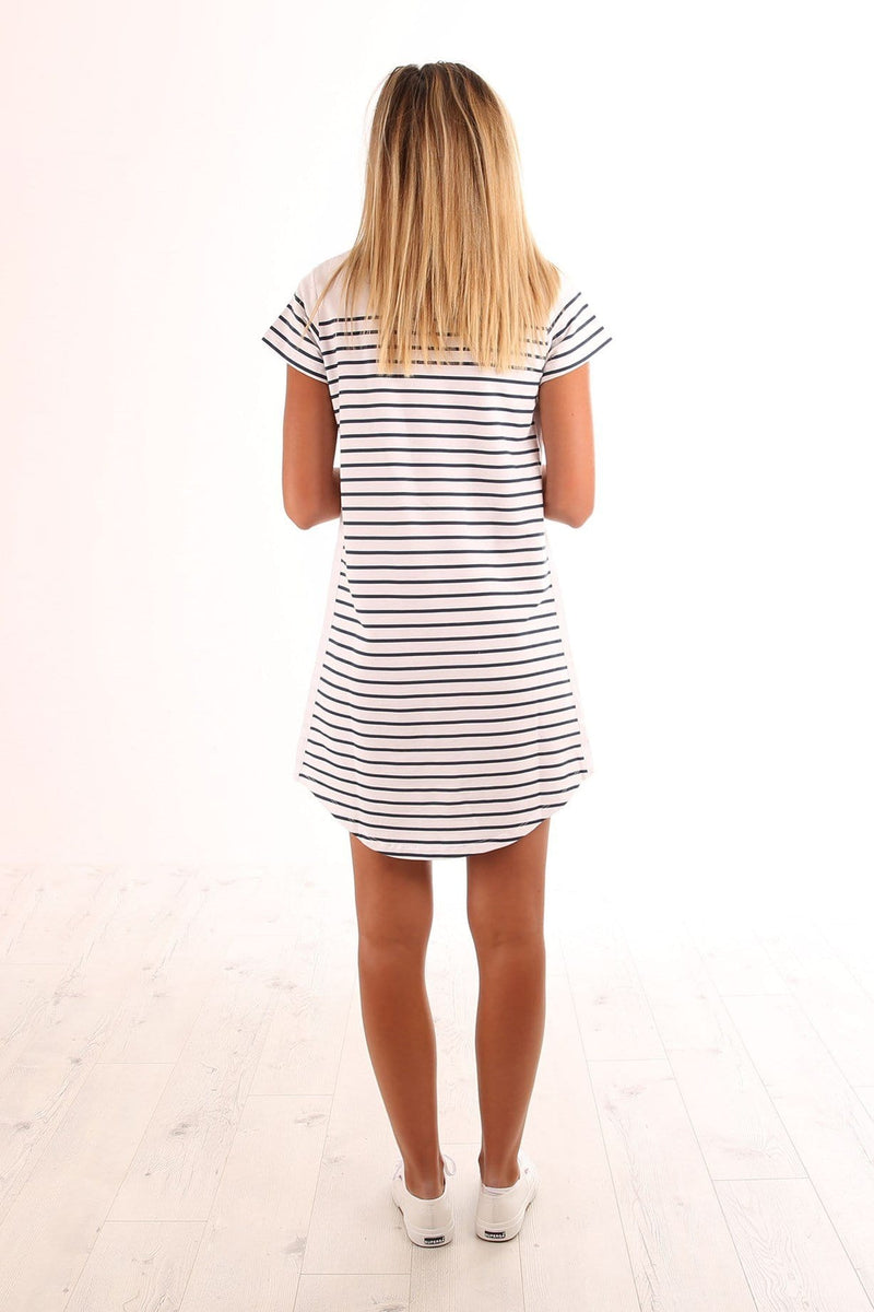 Hollywood Tee Dress Stripe Jean Jail - Jean Jail