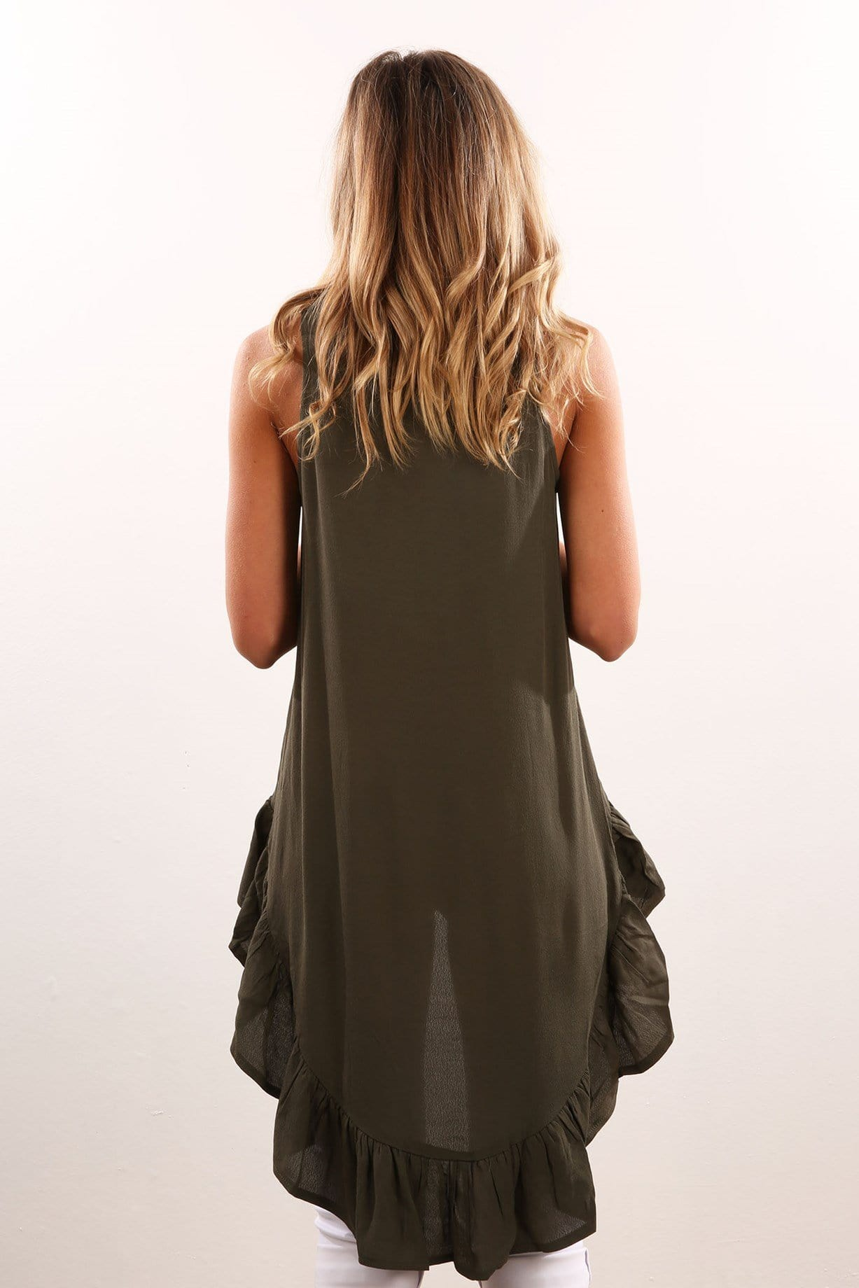Double Take Top Khaki