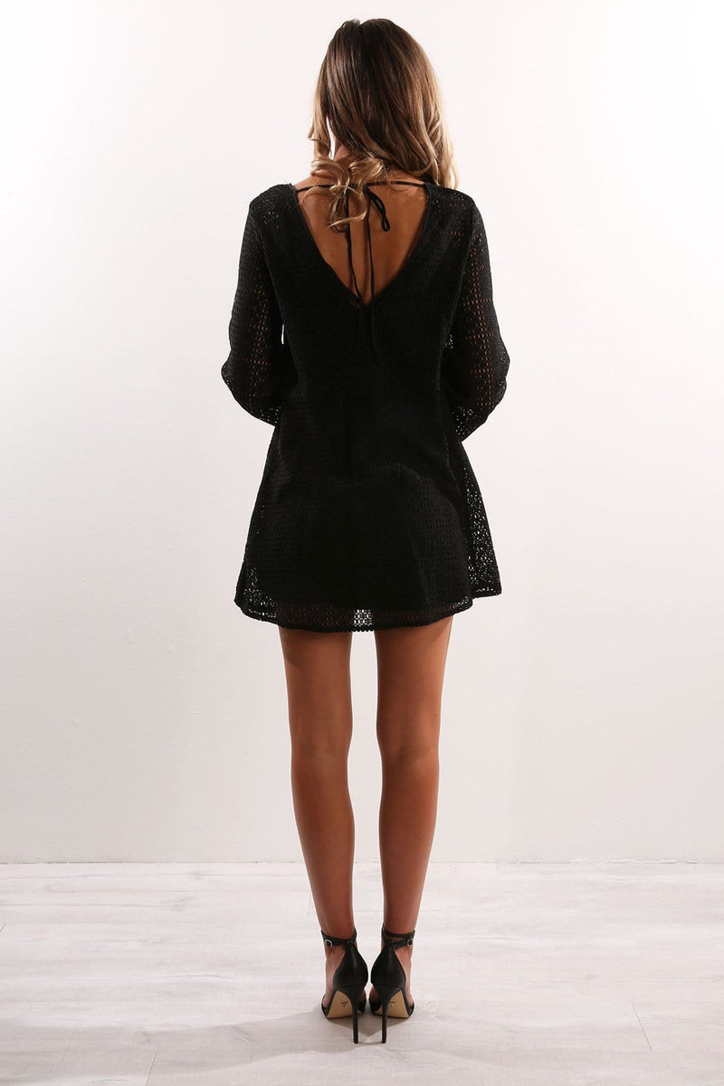Tune In Long Sleeve Dress Black The Fifth Label - Jean Jail