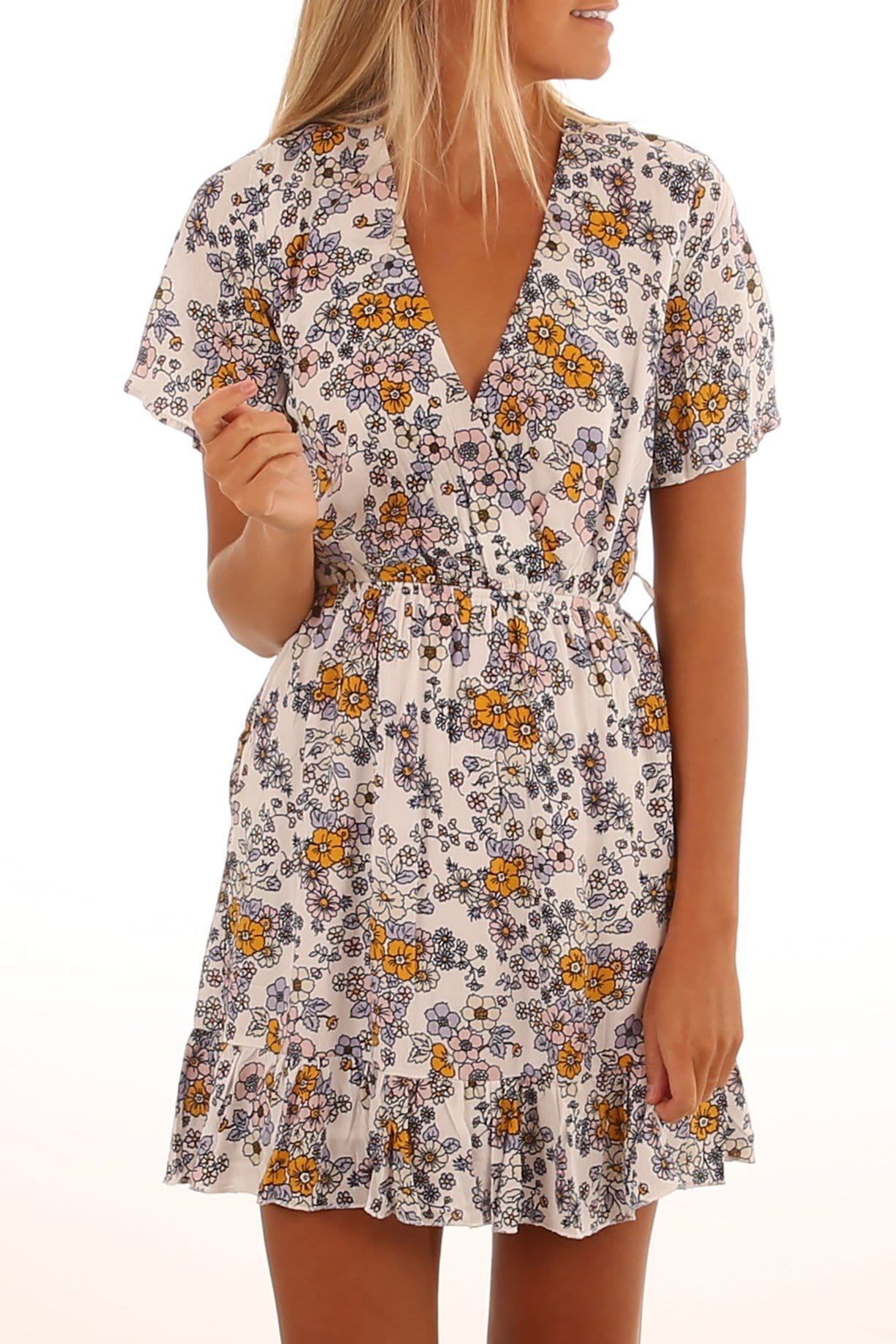 Antibes Chic Dress Multi Floral