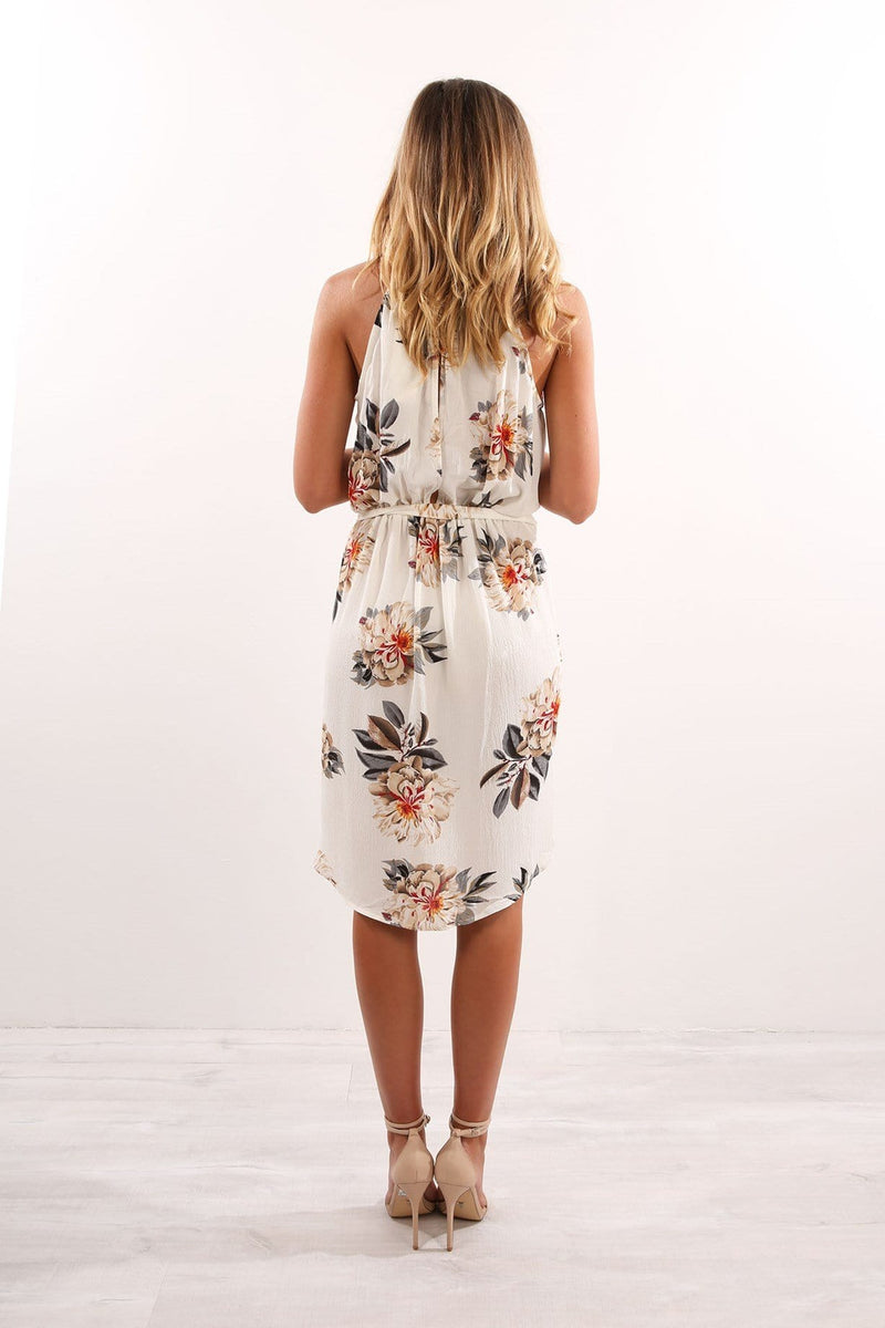 Another Day Dress White Floral Jean Jail - Jean Jail