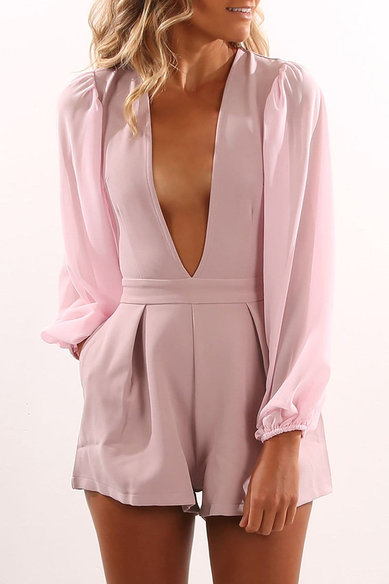 If Only Playsuit Mauve Jean Jail - Jean Jail