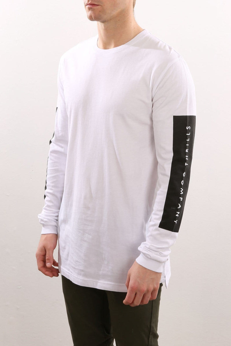 Square Long Sleeve Tee White Thrills - Jean Jail