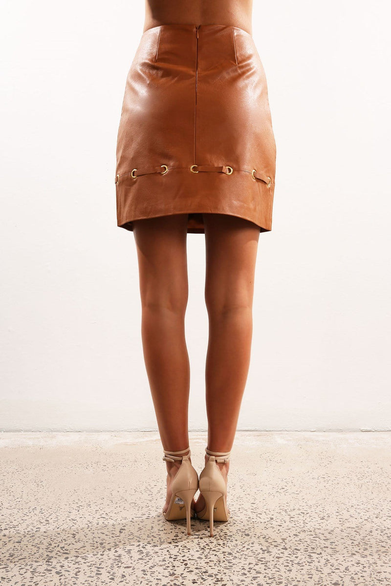 Amos Skirt Tan Finders Keepers - Jean Jail
