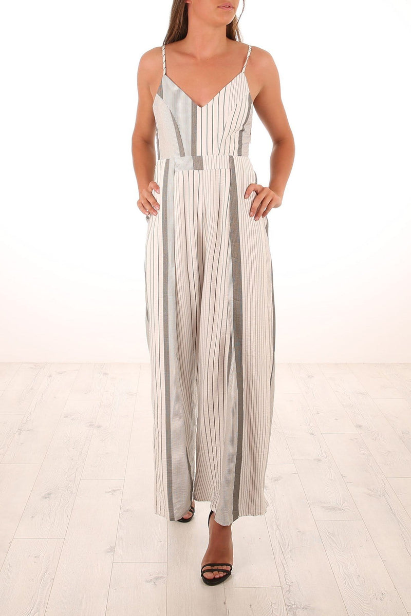 Wonderful Bliss Jumpsuit White Jean Jail - Jean Jail