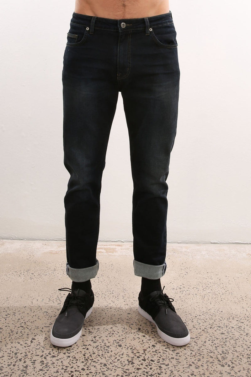 R3 Straight Slim Jean Dark Line Riders - Jean Jail