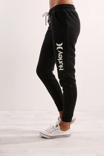 One & Only Cuffed Track Pant Black/White Hurley - Jean Jail