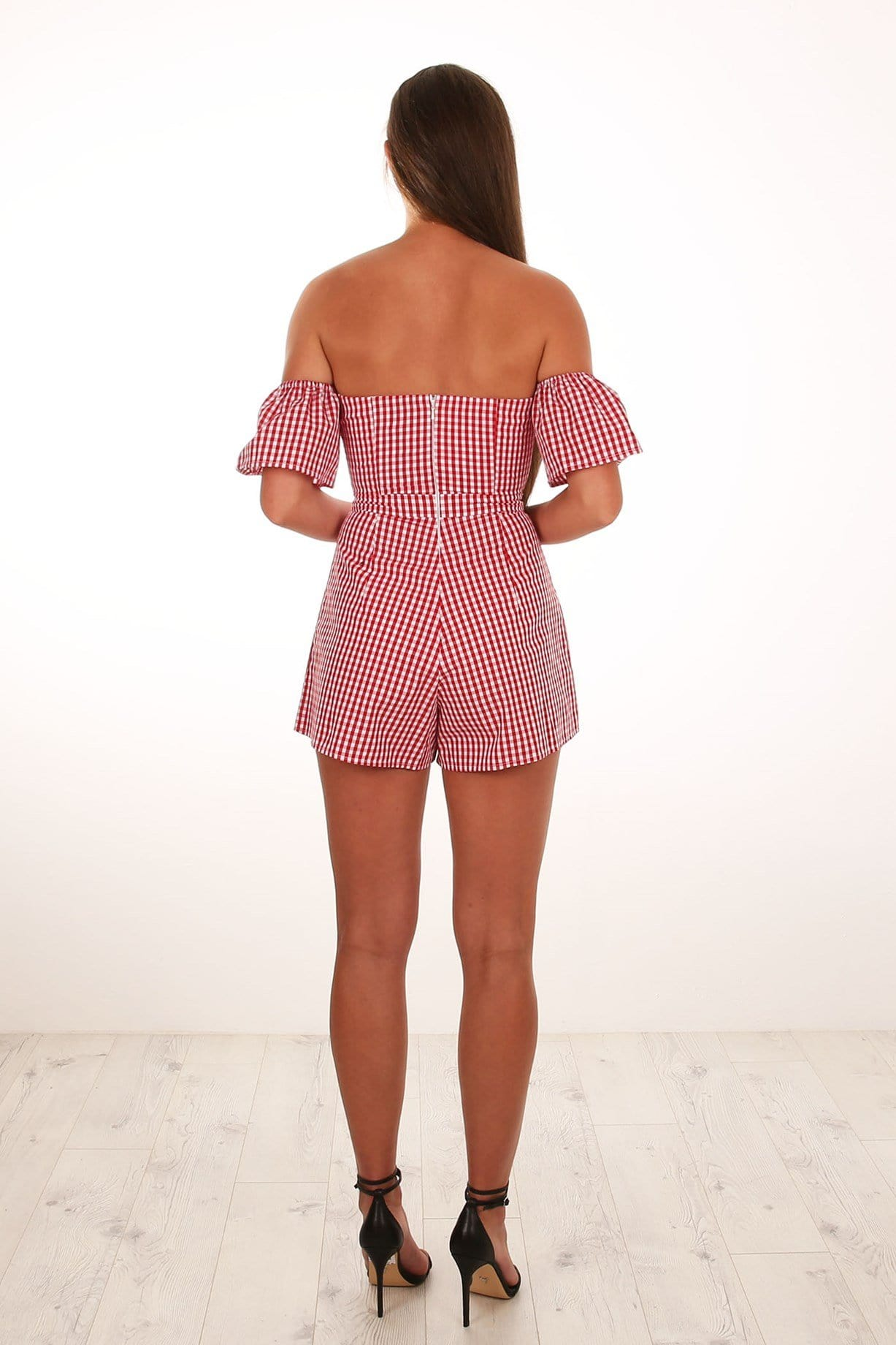 Paris Playsuit Red