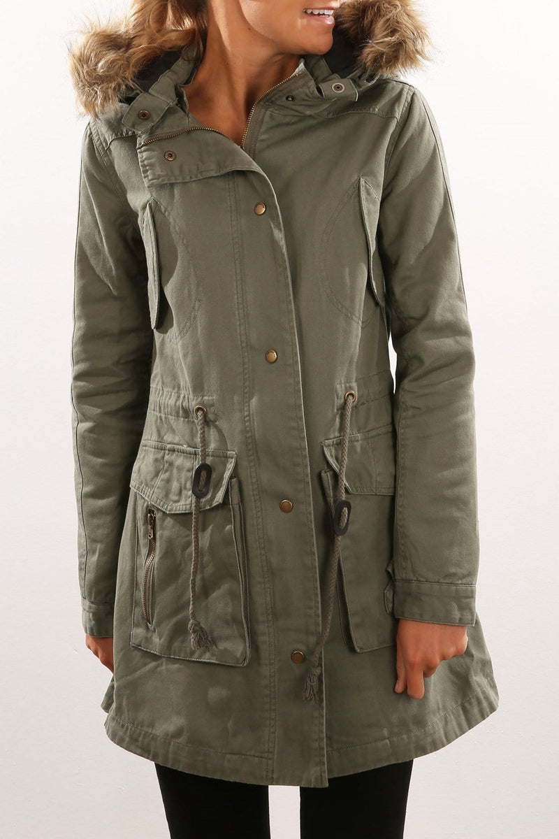 Woodlands Jacket Khaki All About Eve - Jean Jail