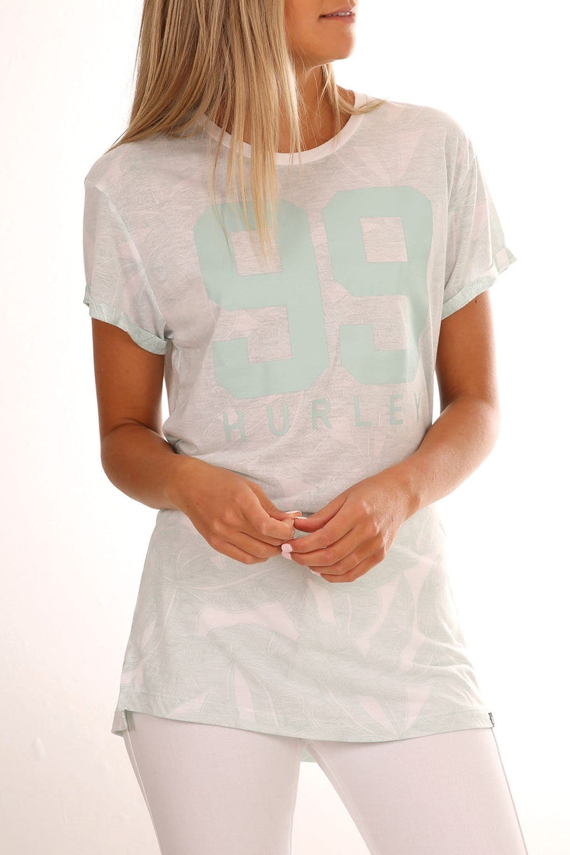 Bella Relaxed T-Shirt White Hurley - Jean Jail