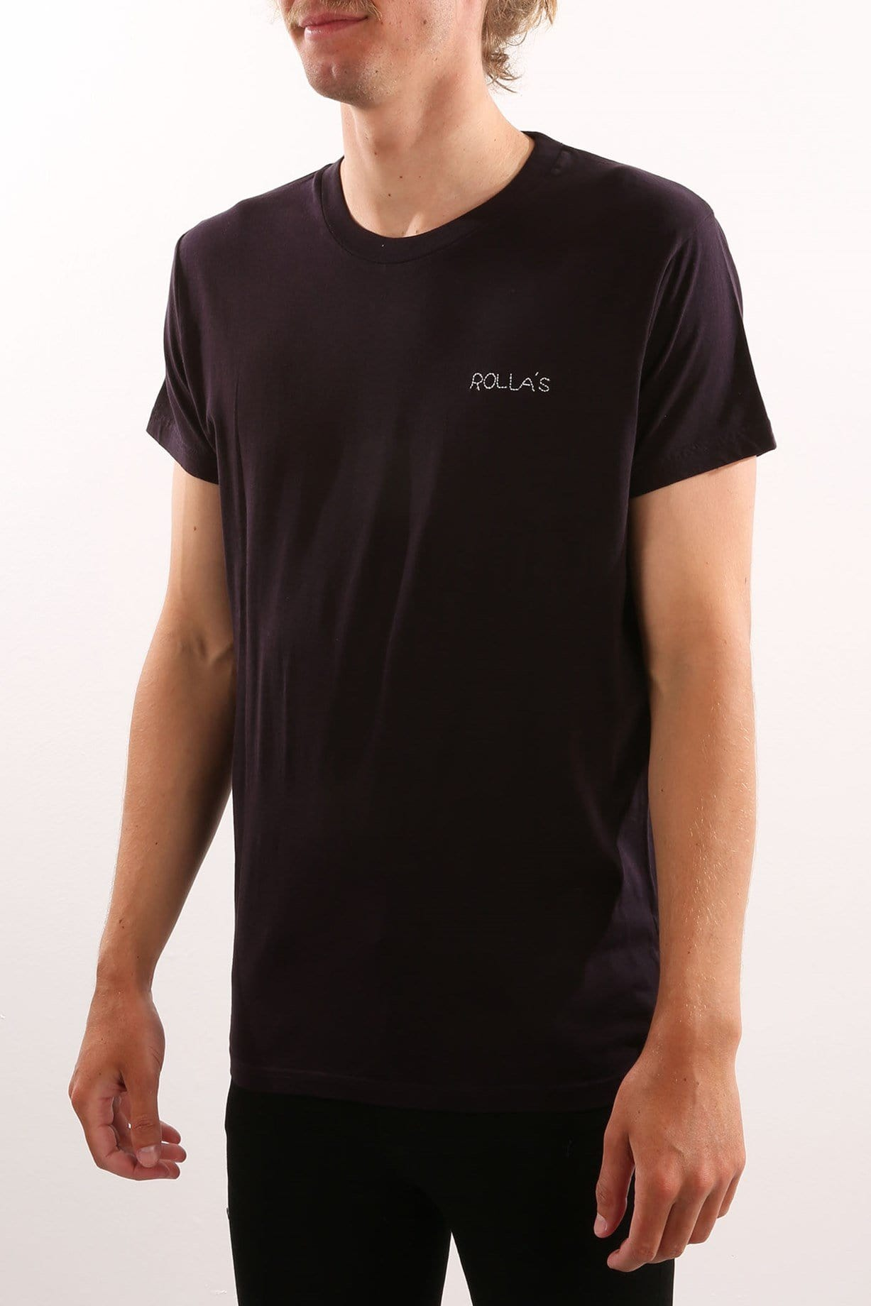 Chain Stitch Tee Black
