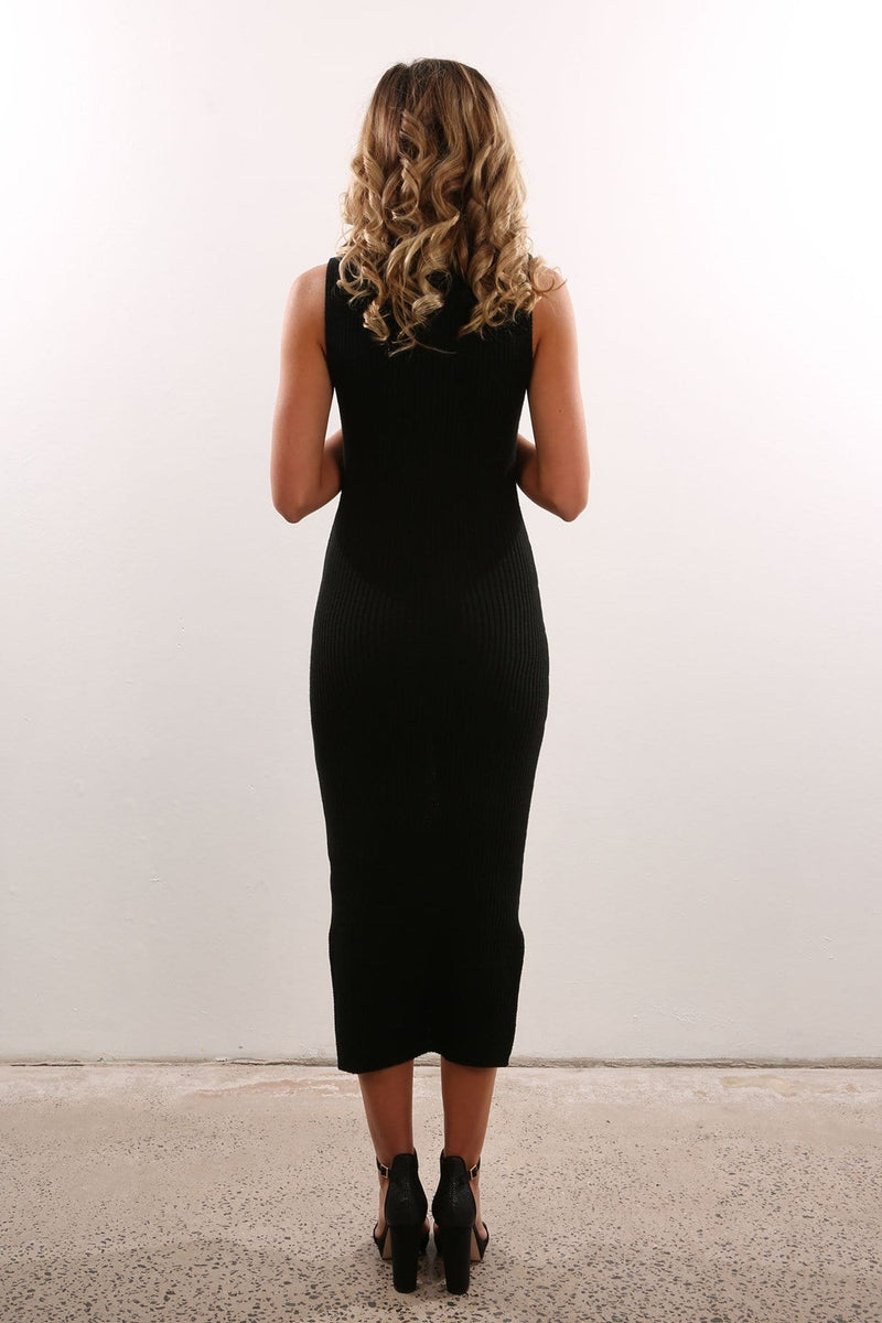 Slice Of Heaven Knit Dress Black Jean Jail - Jean Jail