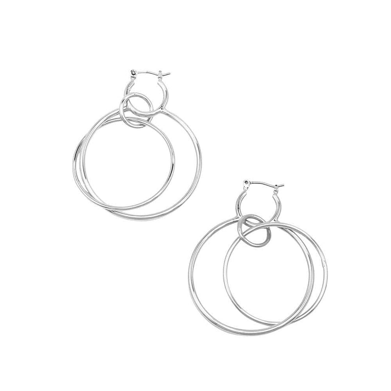 Paris Earrings Silver Jolie & Deen - Jean Jail