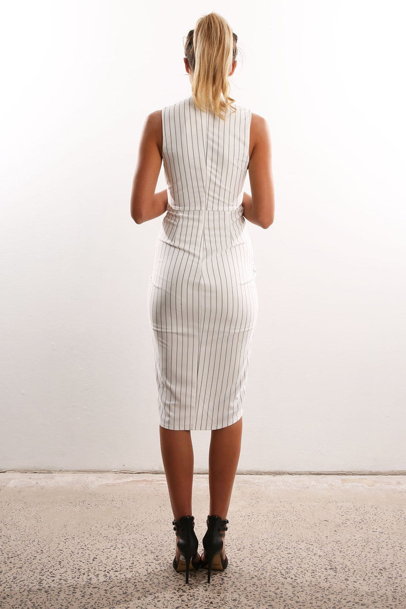 Hunter Stripe Dress White Jean Jail - Jean Jail