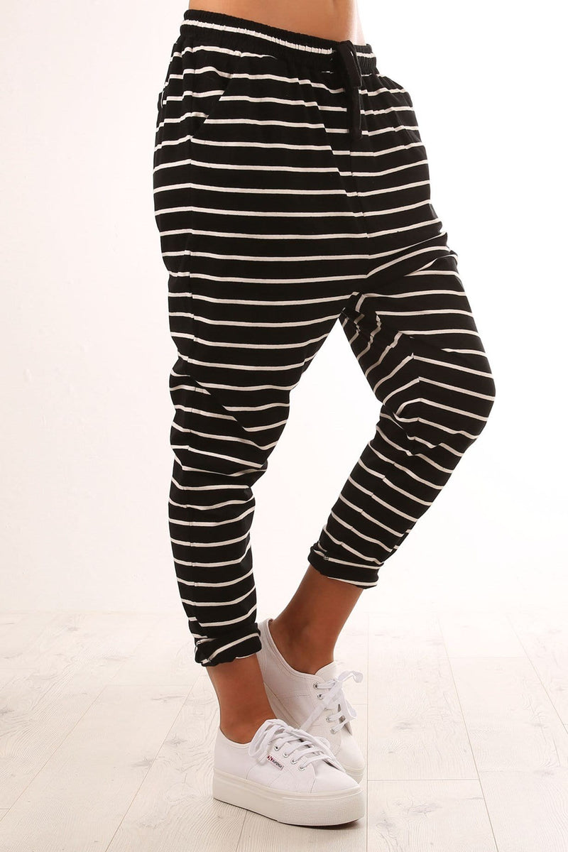 Jade Pant Black White Stripe Betty Basics - Jean Jail