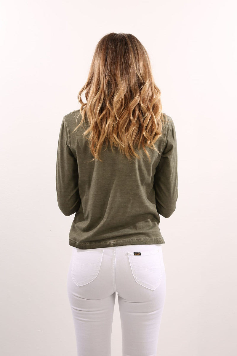Fighter Long Sleeve Tee Olive Silent Theory - Jean Jail
