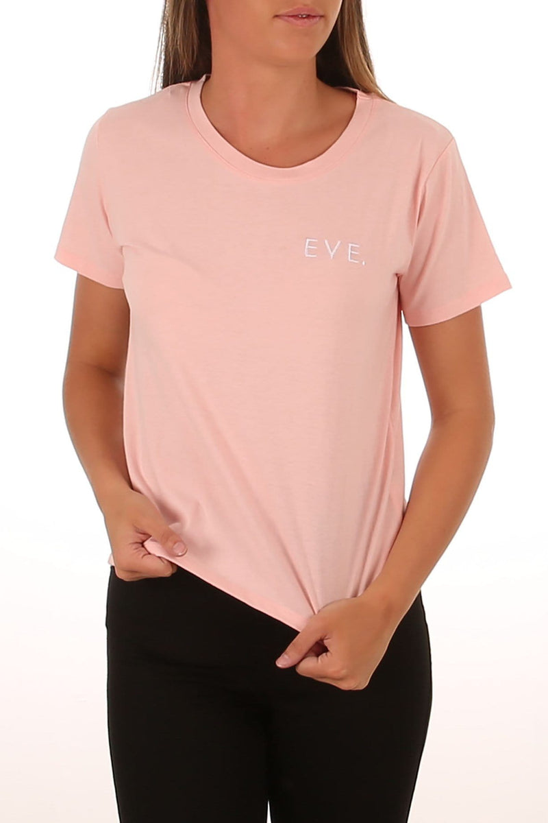 Eve Embroided Tee Pink All About Eve - Jean Jail