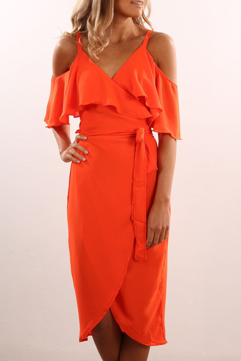 Flamenco Dress Orange Jean Jail - Jean Jail