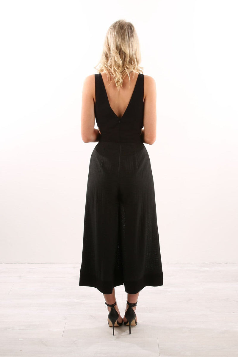Go Now Jumpsuit Black Finders Keepers - Jean Jail