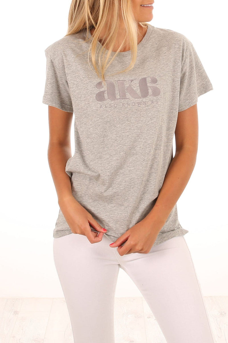 Embry Oversized Tee Grey Marle Jean Jail - Jean Jail