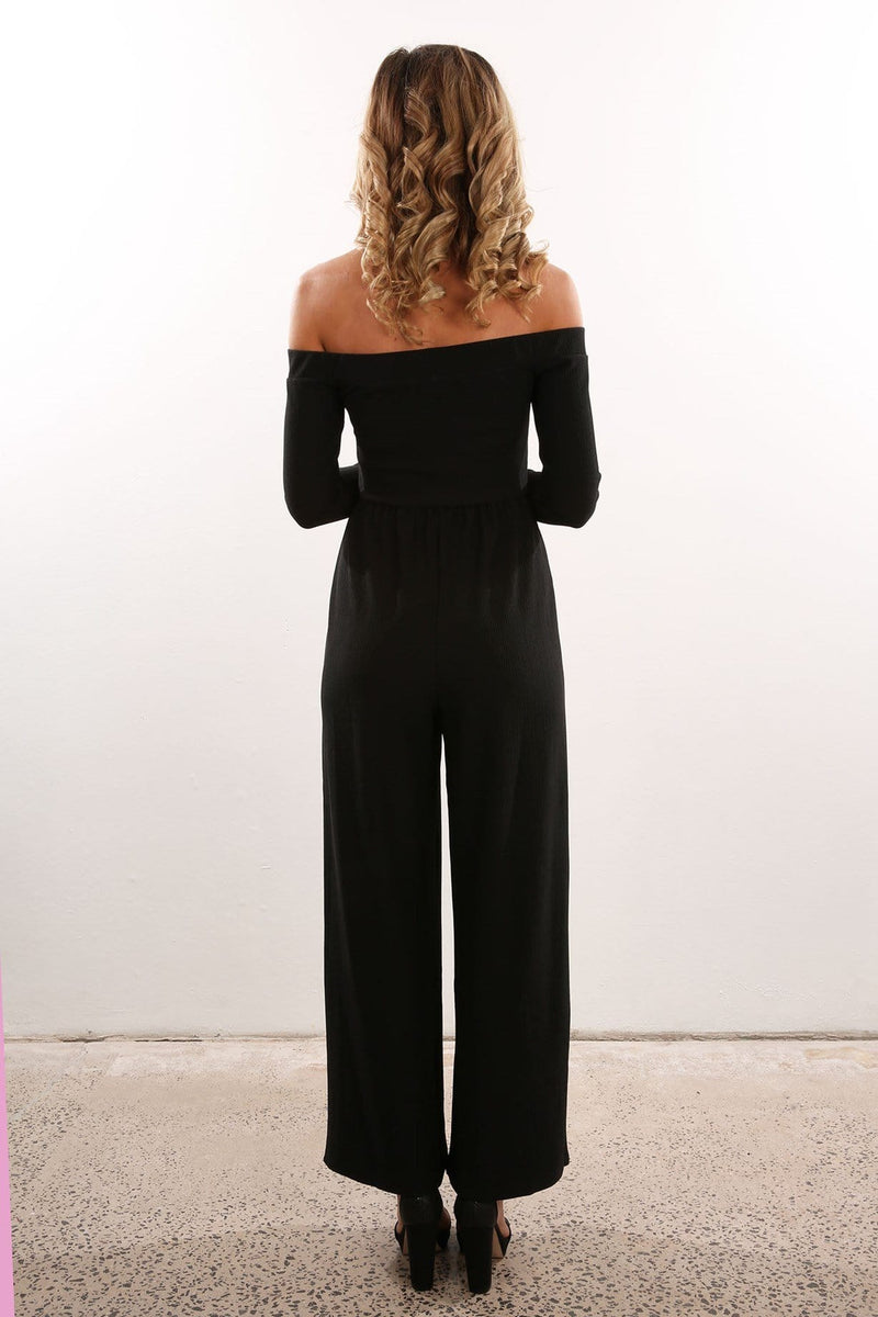 Oxford Jumpsuit Black Jean Jail - Jean Jail