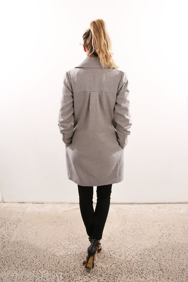 Time And Place Coat Grey Marle The Fifth Label - Jean Jail