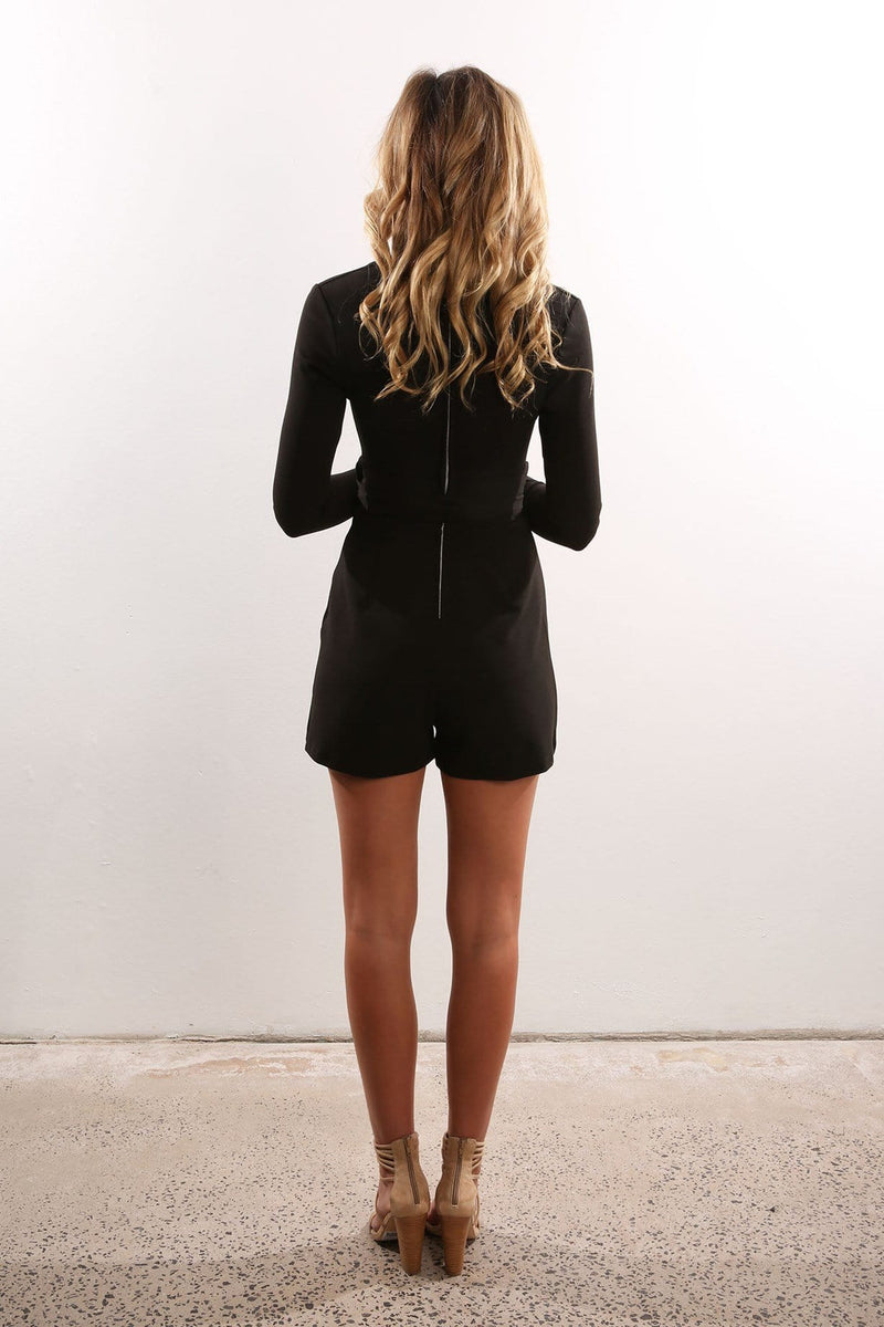 Privileged Playsuit Black Jean Jail - Jean Jail