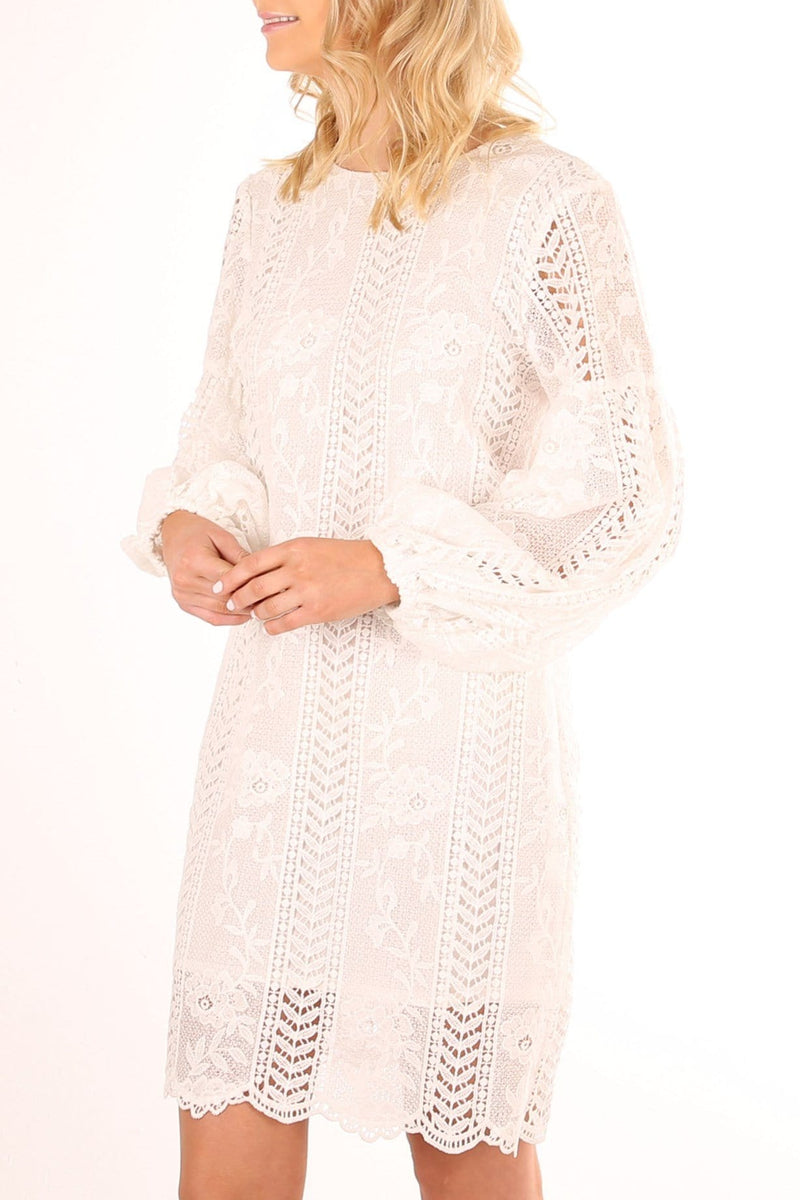 Cass Lace Dress White Jean Jail - Jean Jail