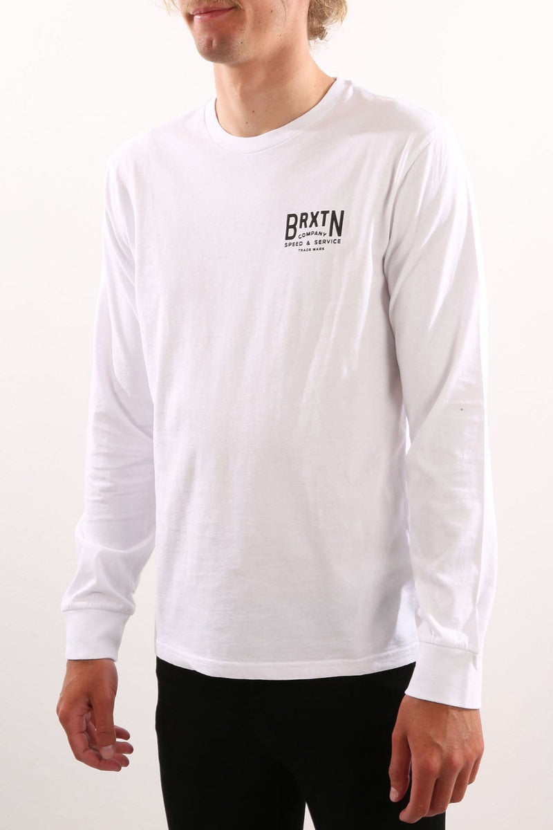 Langley Long Sleeve Premium Tee White Brixton - Jean Jail