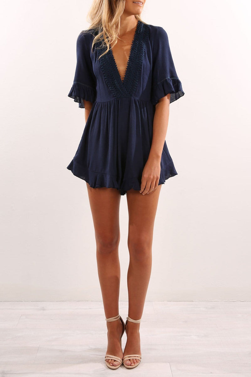 In Love Playsuit Navy Jean Jail - Jean Jail