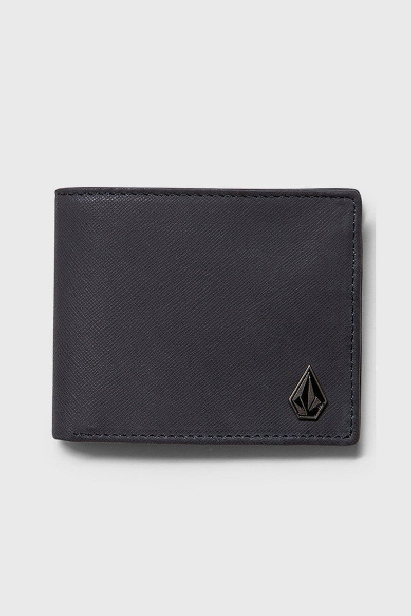 Single Stone Leather Wallet Navy Volcom - Jean Jail