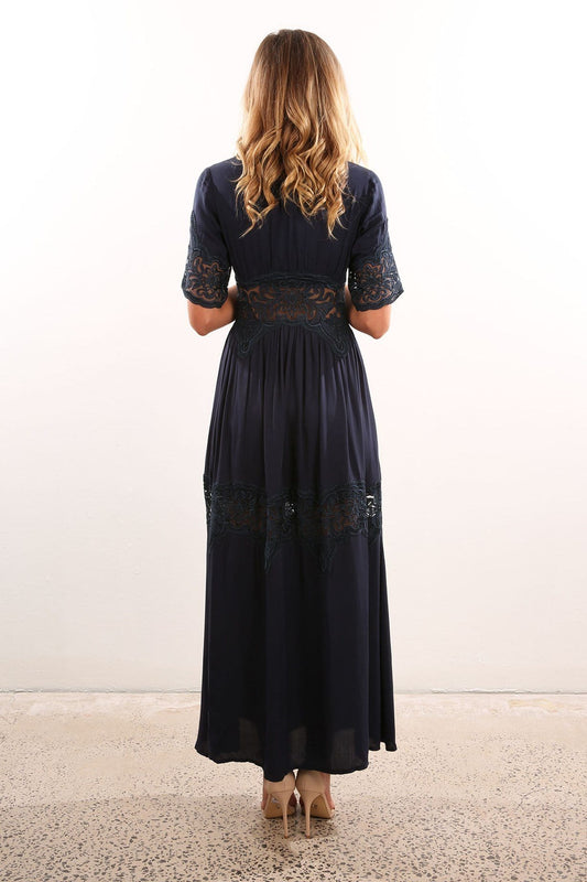 Levert Maxi Dress Navy