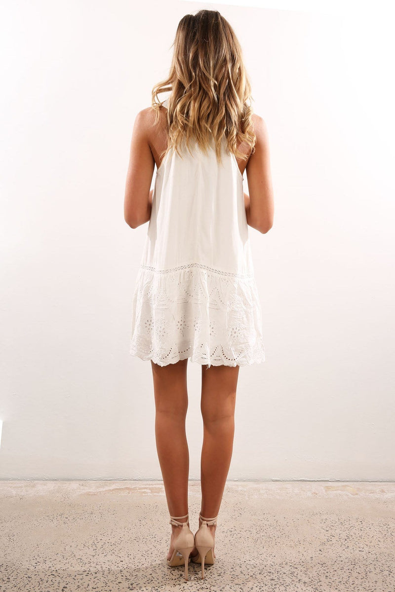 Sefton Dress White Jean Jail - Jean Jail